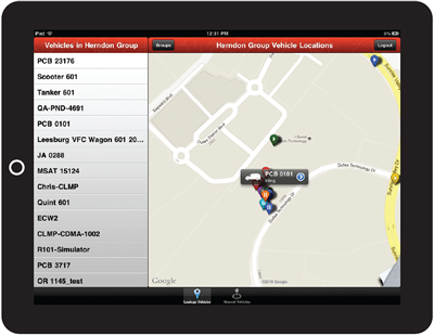 Wireless Matrix vehicle tracking
