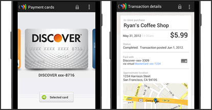 Google Wallet app takes to the Cloud