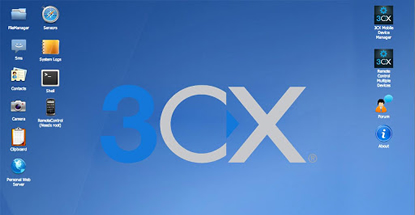 3CX lets you control your Android device and make calls from
