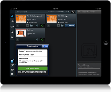 SlideShark PowerPoint app iPad