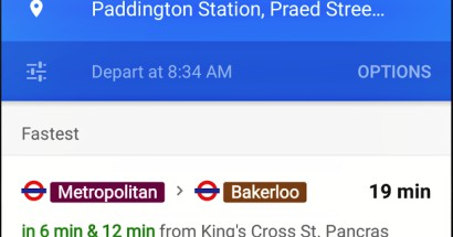 Google Maps app now tracks your next train or bus