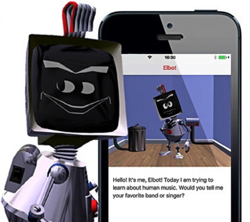 Cheeky Elbot robot app <br>won't give you directions