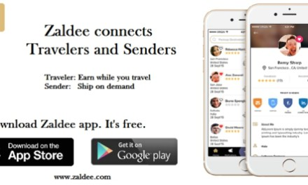 Zaldee app connects shippers with travelers