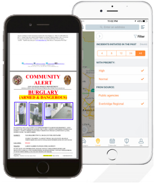 Everbridge mobile app public safety alerts