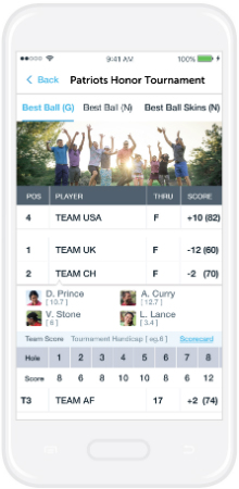 18Birdies golf app live leaderboard