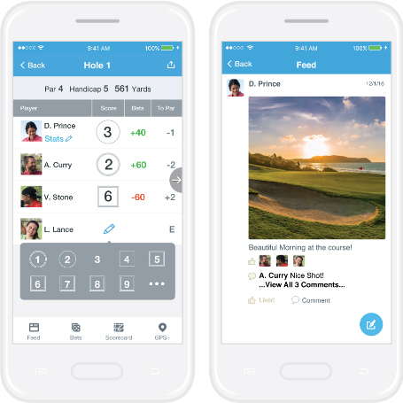 18birdies golf app scoring and social