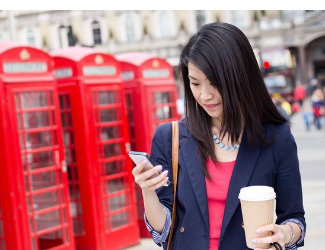 London woman mobile customer engagement