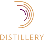 Distillery app development and software design logo