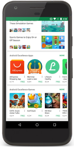 Play Store Android Excellence apps