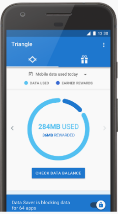 Google Triangle data saver app beta