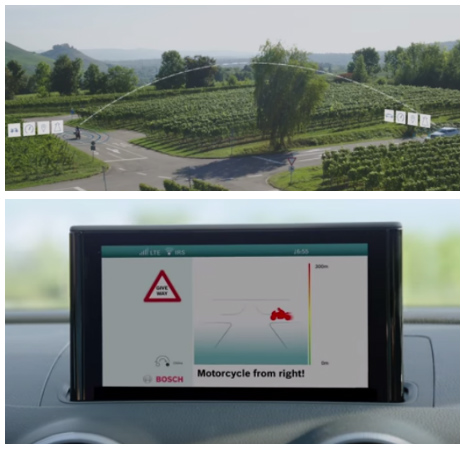 Bosch V2V collision warning tech