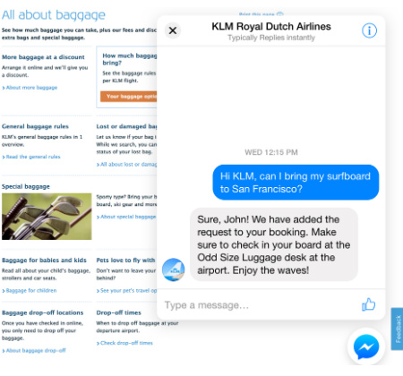 Facebook business features Messenger customer chat