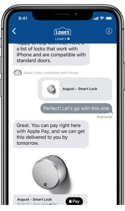 Apple iOS 11.3 business chat